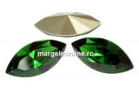 Swarovski navette, fancy chaton , dark moss green, 6mm - x6