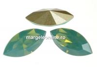 Swarovski navette, fancy chaton , pacific opal, 6mm - x6