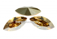 Swarovski navette, fancy chaton , golden shadow, 6mm - x6