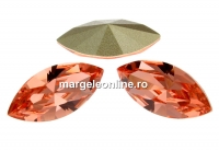 Swarovski navette, fancy chaton, rose peach, 15mm - x2