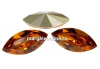 Swarovski navette, fancy chaton, topaz, 15mm - x2