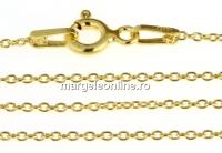 Lant zale ovale, argint 925 placat cu aur, 50cm - x1