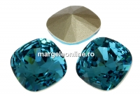 Swarovski, fancy square, indicolite, 12mm - x1