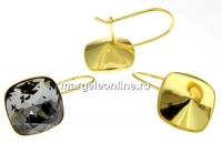 Tortite ag 925 aurit patrat cu siguranta pt Swarovski 4470 si 4461 12mm - x1per