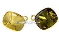 Baza pandantiv argint 925 aurit romb pt Swarovski 4470 si 4461 de 12mm - x1