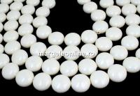 Perle Swarovski disc, ivory pearl, 16mm - x2
