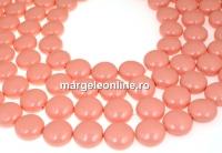Perle Swarovski disc, pink coral pearl, 16mm - x2