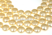 Perle Swarovski disc, light gold, 14mm - x4