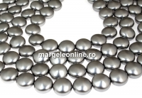 Perle Swarovski disc, grey pearl, 14mm - x4