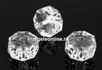 Swarovski, margele rondelle, crystal, 8mm - x2