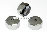 Swarovski, margele rondelle, light chrome, 8mm - x2