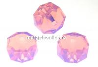 Swarovski, margele rondelle, rose water opal, 8mm - x2