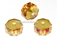 Swarovski, margele rondelle, metallic sunshine, 8mm - x2