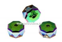 Swarovski, margele rondelle, scarabaeus green, 8mm - x2