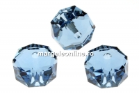 Swarovski, margele rondelle, denim blue, 8mm - x2