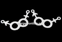 Link simbol atractie sexuala, argint 925, 22.5mm  - x1