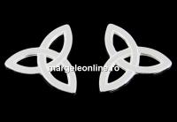 Link simbol Triquetra argint 925, 11.5mm  - x1