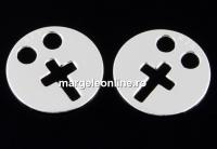 Link banut cu cruce argint 925, 12mm  - x1