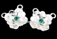 Link trandafir cu cristal argint 925, 12.5mm  - x1
