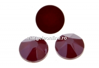 Swarovski rhinestone ss30, dark red, 6mm - x4