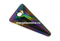 Swarovski, pandantiv spike, rainbow dark, 18mm - x1