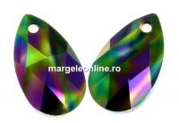 Swarovski, pandantiv picatura, rainbow dark, 16mm - x1