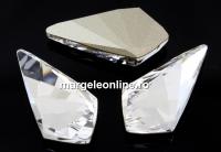 Swarovski, fancy kite, crystal, 10x5mm - x2