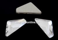 Swarovski, cabochon triangle alpha, crystal, 12mm - x1