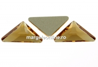 Swarovski, cabochon triangle gamma, light colorado topaz, 10mm - x1