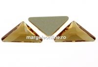 Swarovski, cabochon triangle gamma, light colorado topaz, 10mm - x1