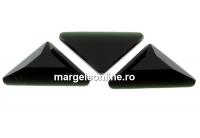 Swarovski, cabochon triangle gamma, jet, 10mm - x1