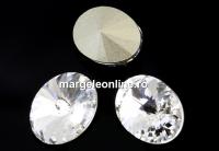 Swarovski, fancy oval, crystal, 14x10.5mm - x2