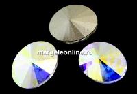 Swarovski, fancy oval, aurore boreale, 8x6mm - x4