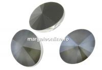 Swarovski, fancy oval, dark grey, 8x6mm - x4