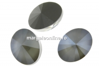 Swarovski, fancy oval, dark grey, 14x10.5mm - x2