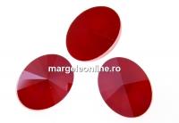 Swarovski, fancy oval, royal red, 14x10.5mm - x2