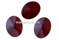 Swarovski, fancy oval, dark red, 14x10.5mm - x2