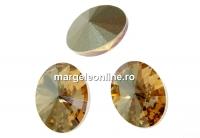 Swarovski, fancy oval, golden shadow, 14x10.5mm - x2