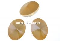 Swarovski, fancy oval, ivory cream, 14x10.5mm - x2