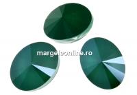 Swarovski, fancy oval, royal green, 14x10.5mm - x2