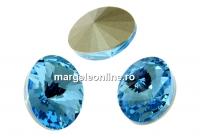 Swarovski, fancy oval, aquamarine, 14x10.5mm - x2