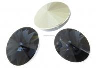 Swarovski, fancy oval, graphite, 14x10.5mm - x2