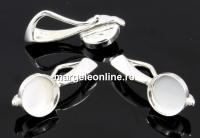 Baza pandantiv argint 925, cabochon perla 6mm - x1