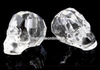 Swarovski, margele craniu, crystal, 15x13mm - x1