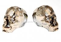 Swarovski, margele craniu, rose patina, 15x13mm - x1