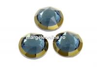 Swarovski, cabochon cristal hotfix, denim blue, SS34 - x4
