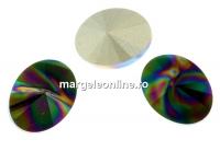 Swarovski, fancy oval, rainbow dark, 14x10.5mm - x2