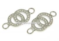 Link, argint 925 placat cu rodiu, 19mm - x1