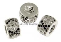 Spacer decor rondela, argint 925 placat cu rodiu, 10.5mm - x1