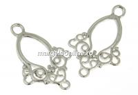 Chandelier, argint 925 placat cu rodiu, 21x13.5mm - x2